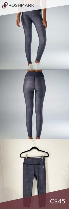 """Gymshark Geometric Leggings Charcoal Hemmed to fit waist to ankle length 32"""" Inseam 23"""" Gently worn, excellent condition Gymshark Pants & Jumpsuits Leggings Gymshark Camo, Gymshark Flex Leggings, Gymshark Pants, Pant Shirt, Pant Jumpsuit, Maternity Bodycon Dresses, Dark Grey Leggings, Seamless Leggings, Ankle Length"""