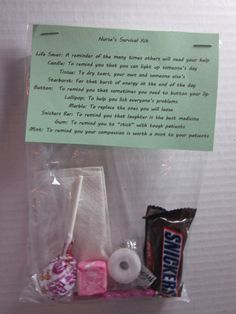 Nurse's Survival Kit Novelty Gag Gift by StacysTreasurers on Etsy, $4.95
