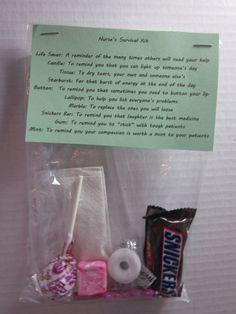 Nurse's Survival Kit Novelty Gag Gift by StacysTreasurers on Etsy, $4.95