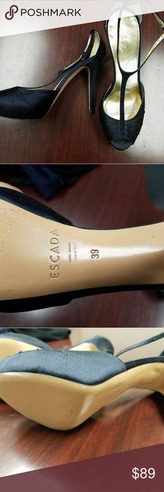 Escada Tstrap Heels Excellent condition escada t strap heels Escada Shoes Heels