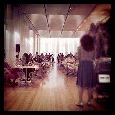 About to speak on a panel about Pinterest at the North Carolina Museum of Art