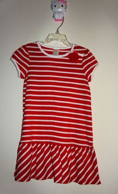 Gymboree Red Stripes Dress Size:5 Age:4-5 Years Original Price:$32.95 #Gymboree…
