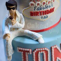 by Ying ( Elvis Birthday, Baby Birthday, Birthday Parties, Birthday Cake, Elvis Cakes, Elvis Presley Cake, Dessert Ideas, Cake Ideas, Bacon Wrapped Potatoes