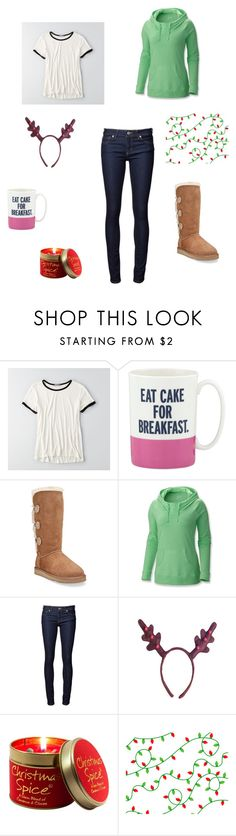 """""""25 days of Christmas: December 12"""" by spontaneous47 ❤ liked on Polyvore featuring American Eagle Outfitters, Kate Spade, UGG Australia, Columbia, Naked & Famous and Lily-Flame"""