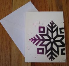 "Cute notecard with Latvian symbol ""Auseklis""."