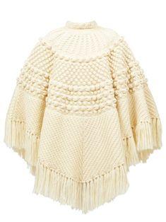 Poncho Knitting Patterns, Baby Hats Knitting, Knitted Poncho, Knitted Hats, Couture, Silk Chiffon, Knitwear, Saint Laurent, Women Wear