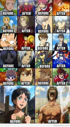 Before and After, Anime Style