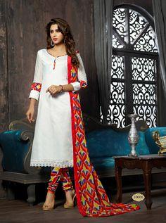 Chanderi Cotton Office / Daily Wear Salwar Kameez - http://member.bulkmart.in/product/chanderi-cotton-office-daily-wear-salwar-kameez-6/