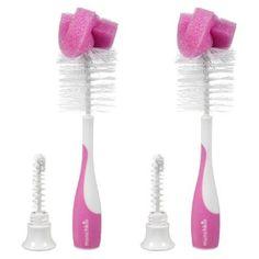 Amazon.com : Munchkin Bottle & Nipple Brush - Girl - 2 pk : Baby Bottle Cleaning Brushes : Baby $5.90