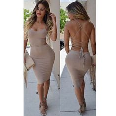 Image result for Sexy Women Bandage Bodycon Dress Evening Cocktail Party Night Club Wear Dress