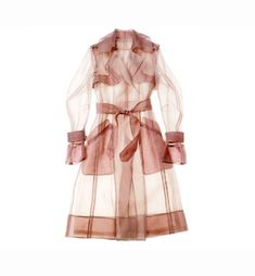 pale pink silk trench