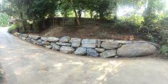 Boulder Retaining Wall Retaining Walls And Granite On