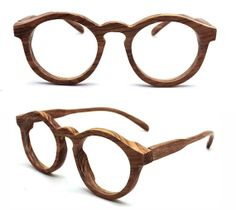 TAKEMOTO olive wood THANKS handmade round glasses with por TAKEMOTO