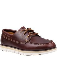 2fa75b51ceb5 Men s Harborside 3-Eye Leather Boat Shoes Timberland Earthkeepers