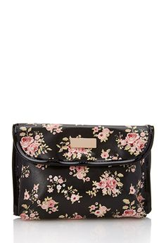 Cluster Rose Toiletry Case | FOREVER21 - 1000119517
