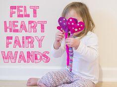 How To Make Felt Heart Fairy Wands
