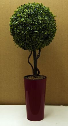 An artificial buxus tree - height 60cm.