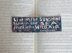Painted Bookmark // Floral // Live in the by PeelsandPosies, $8.00