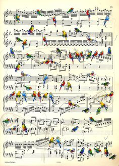 Partituras ilustradas Sheet Music Crafts, Sheet Music Art, Music Paper, Paper Art, Vintage Sheet Music, Altered Books, Book Page Art, Artist Sketchbook, Music Humor