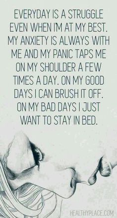 Most days I just want to stay in bed
