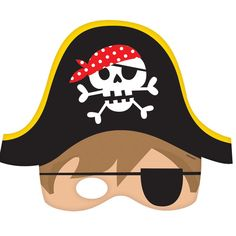 Check out Pirate Paper Masks (8 Count) | Pirate Birthday Decorations and…