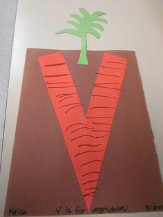V is for Vegetable.