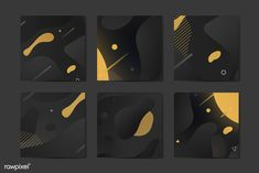 Black and yellow abstract banner vectors collection | premium image by rawpixel.com / Aum Game Design, Web Design, Banner Vector, Web Banner, 3d Paper Snowflakes, Black Banner, Graphic Design Templates, Social Media Banner, Geometric Background