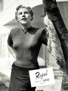 Curvy Month Seven: Regal Jumper, c. 1940s – Subversive Femme
