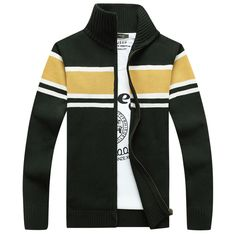 Would you buy this New Mens Cardigan...? Available now at DIGDU http://www.digdu.com/products/new-mens-cardigan-sweater-brand-clothing-men-zipper-sweaters-male-cardigan-striped-stand-collar-knitted-sueter-hombre-oversized?utm_campaign=social_autopilot&utm_source=pin&utm_medium=pin