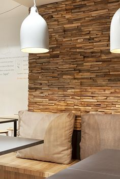 Wonderwall Studios is a creative studio that designs and produces wooden panelling for walls and surfaces. We use exclusively salvaged wood and employ local, professional craftsmen. Wooden Panelling, Wooden Wall Panels, Wood Panel Walls, Wooden Wall Art, Wooden Walls, Wall Design, House Design, Deco Restaurant, Family Room Walls