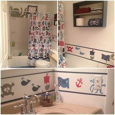 Pirate bathroom for the boys.