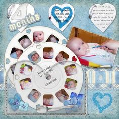 Baby boy eats for first time digital scrapbooking layout for Rohans Cool Idea, dead link for now.