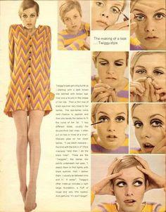 twiggy Twiggy Makeup, Hair Makeup, Mod Makeup, Twiggy Hair, 1960s Makeup, Liquid Makeup, Vintage Makeup, Vintage Beauty, Vintage Jewelry