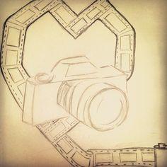 "RMCAD Virtual Art Share Contest Entry by Jade ""New silkscreen sketch :) #camera #film #love #sketch #art"""