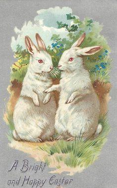 .Vintage Easter Card.