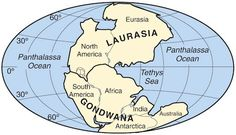 Gondwana – the name given to an ancient supercontinent, believed to have sutured about 600 to 530 million years ago, joining East Gondwana to West Gondwana. Gondwana formed prior to Pangaea, and later became part of it.