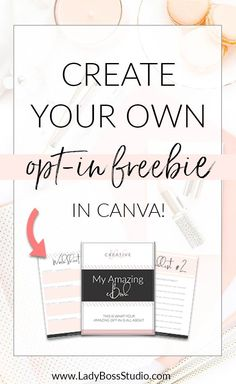 Want to up your Email Newsletter game? Create a stunning Opt-in Freebie, Content Upgrade or Lead Magnet easily in minutes for free with Canva.