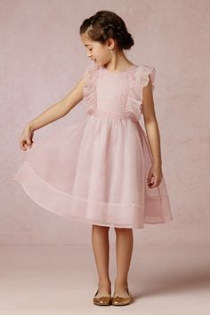 The sweetest little silk ruffle dress for your flower girl!