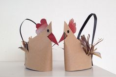 schaeresteipapier: Easter - 2nd craft idea with paper, chicken basket
