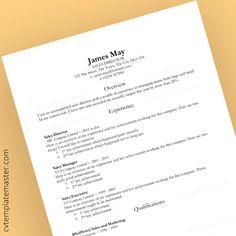 Smart Division Professional Microsoft Word CV template