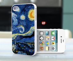 iphone 4 case iphone 4s case iphone 4 cover moon paint Colours  printing. $13.99, via Etsy.