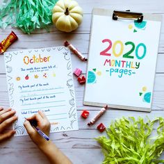 2020 Monthly Pages (digital) - FREE GIFT WITH PURCHASE Professional License, How To Express Feelings, Life Journal, Thoughts And Feelings, Writing Skills, Teaching Kids, Free Gifts, Journaling, Pdf