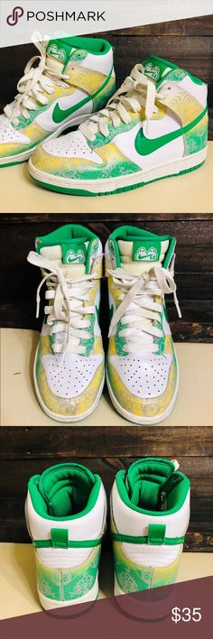 outlet store 6b4f6 7e0d0 NIKE Dunk High 6.0 White Green