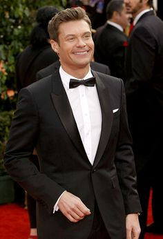 one of the hardest working people in Hollywood Black Suits, Black Tie, Dunwoody Georgia, English Story, Celebrities Then And Now, Ryan Seacrest, Working People, American Idol, Golden Globes