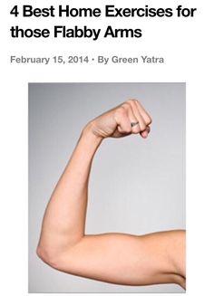 4 Best Home Exercises For Flabby Arms.  #Health #Fitness #Trusper #Tip