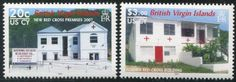 Virgin Islands Red Cross Buildings Stamps British Virgin Islands, Red Cross, Postage Stamps, Buildings, Mansions, House Styles, Decor, Mansion Houses, Dekoration