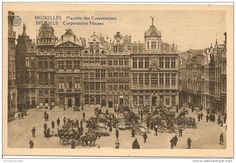 Vintage postcard of Corporations Houses, Brussels