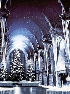 Yule ball. Harry Potter page to screen.  I loved the great hall at Christmas so beautiful.