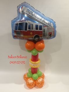 """Fire Engine Birthday Balloon Delivery"" #fireengineballoons #sendballoonscanberra #balloondeliverycanberra #birthdayballoons #act #cbr #canberraballoons #BalloonBrilliance"