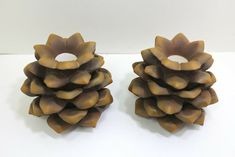 Pine Cone Taper Holder Candle Holders Party Lite Christmas Set Of 2 With Boxes Christmas Settings, Pine Cones, Fairy Lights, String Lights, Candle Holders, Boxes, Candles, Store, Party